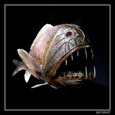 """deep sea fish A fish like this with the light """"lure"""" hanging in front of his mouth would be cool to utilize"""
