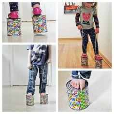 tin can stilt action collage by www.babbledabbledo.com, via Flickr