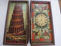 Antique Board Game McLoughlin Bros Pilgrim Progress Sunday School Tower of Babel | eBay