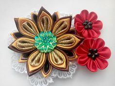 Kanzashi hair clip/Kanzashi flower/Hair clip for girls/Head
