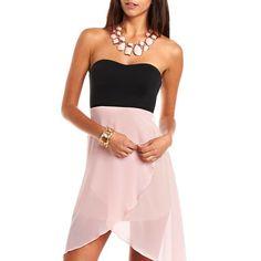 Chiffon Hi-Low Tube Dress: Charlotte Russe