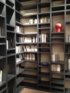 Love wall color with Cashmere Gray shelving