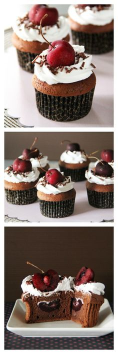 Black Forest Cupcakes Recipe. Turn your favorite cakes into delightful cupcakes with this easy, tried, and tested recipe! @rasamalaysia