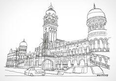 Urban Sketching, Kuala Lumpur, Sketchers, Facade, Taj Mahal, Doodles, Architecture, Drawings, Instagram Posts