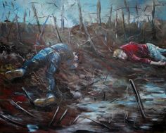 Painted by Andy Farr to commemorate the Centenary. A contemporary take on Nevinson's painting of the same name. Lost, Contemporary, Artwork, Photography, Painting, Work Of Art, Photograph, Auguste Rodin Artwork, Fotografie