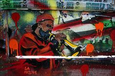 Streetart Berlin by URBAN ARTefakte, via Flickr  Moe
