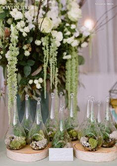 WedLuxe: stunning #wedding decor Tablescape Centerpiece www.tablescapesbydesign.com https://www.facebook.com/pages/Tablescapes-By-Design/129811416695