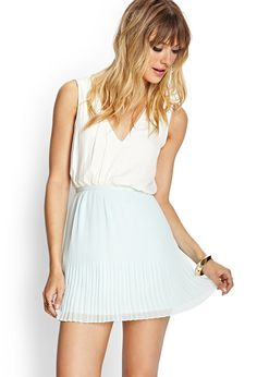 Pleated Chiffon Skirt | FOREVER21 #F21Contemporary