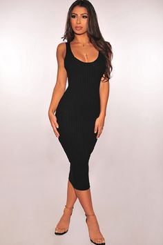065fff18ff60 Black Ribbed Knit Sleeveless Dress Blue And White Off The Shoulder Dress  Quick Overview Another classic dress that does th.