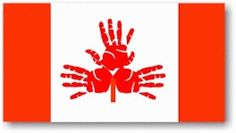 Canada Flag made with Children's handprints