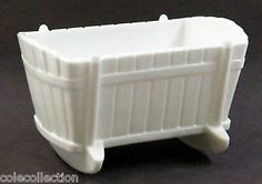 milk glass baby cradle planter - Google Search