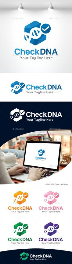Check DNA logo Template Vector EPS, AI. Download here: http://graphicriver.net/item/check-dna-logo/11105482?ref=ksioks