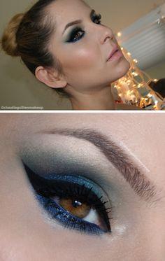 make verde azul e dourado com paleta de sombras Pausa Para Feminices com a Tracta claudiaguillen.inbloodesign.com