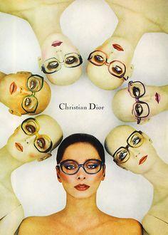 Vintage Christian Dior advertisement. #vintage #christiandior #glasses