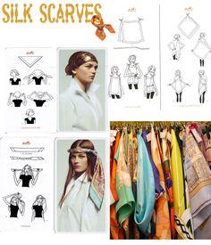 Ways to wear Silk Scarves  