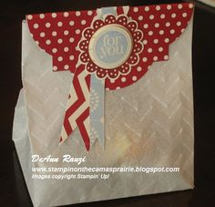Stampin' on the Prairie: Parchment Paper Fancy Favor Bag