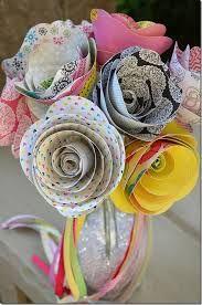 Bouquet ecosostenibile fiori di carta facili