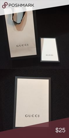 Gucci gift bag and box NEW Perfect condition authentic Gucci gift bag and box same day shipping offer button only Gucci Accessories