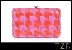 Ferragamo woven clutch for this girl. Also for me. One Pink Clutch on my order please!