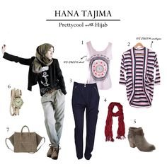 "How to looking ""preetycool with hijab"" like a Hana Tajima ❤ Check this out girls !"