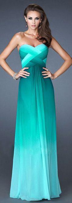 prom dresses , ombre chiffon prom dresses,evening dresses