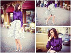 Daria Harman - Fashion Union Midi Skirt, River Island Clutch, Charuel Blouse - Heels and block-stones