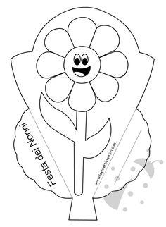 Biglietti di auguri per la Festa dei Nonni con fiore