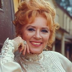 "Amanda Blake A native New Yorker; played the saloon keeper and madam, Miss Kitty, on the tv Western series ""Gunsmoke. Hollywood Icons, Vintage Hollywood, Hollywood Stars, Classic Hollywood, Celebrities Who Died, Celebs, Bonanza Tv Show, Hot Cowboys, Miss Kitty"