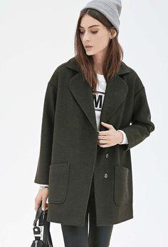 Forever 21 | Textured Woven Overcoat #forever21 #coat