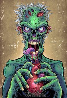 Zombie Art http://thinkcookcookworld.com/                                                                                                                                                                                 Más
