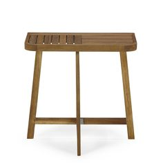 Demi table pliante pour balcon acacia huilé Finition huilé - Youk - Les tables de jardin - Meubles de jardin - Tous les meubles - Décoration d'intérieur - Alinéa