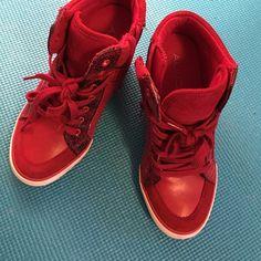 ALDO Shoes - Aldo red hot wedge sneakers
