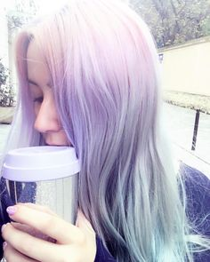 Lavender-periwinkle colored hair <3