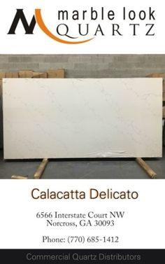 Atlanta premium quartz slabs Calacatta Delicato quartz in Norcross Sino International Titan Quartz 770-685-1412. Calacatta Quartz, Quartz Slab, Atlanta, Collection, Tinkerbell
