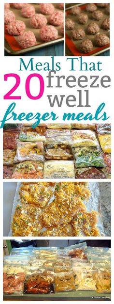 Simple Family Meals that Freeze Well - everything from breakfast to dinner! # easy meals to freeze Simple Family Meals that Freeze Well Camping Food Make Ahead, Make Ahead Freezer Meals, Dump Meals, Easy Family Meals, No Cook Meals, Easy Meals, Freezer Cooking, Crockpot Meals, Freezer Recipes
