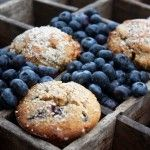 Blueberry Almond Crumb Muffins - pretty dense but good, made about 40 mini muffins, cooked about 20 min at 175 or so; maybe try again separating egg whites and whipping up, then folding in? Read reviews for tips...