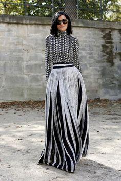 Moda stretowa: spódnice, Paryż / fot. Imaxtree