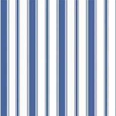 Papier peint - Cole and Son - Cambridge Stripe - Blue & White Cambridge, Nautical Wallpaper, Cole And Son Wallpaper, Designer Wallpaper, Wallpaper Designs, Blue Stripes, Blue And White, Interior Design, Color