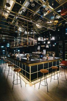 Pub Design, Bar Interior Design, Coffee Shop Design, Lounge Design, Restaurant Interior Design, Bar Lounge, Cafe Interior, Deco Restaurant, Outdoor Restaurant