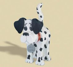 Layered Dalmation Woodcraft Pattern Another exclusive Winfield layered animal! Fun & easy! Just cut & glue wood pieces together and paint. #diy #woodcraftpatterns