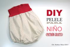 DIY Pelele para niño: Punto y tela (patrones gratis) - Oh, Mother Mine DIY!!