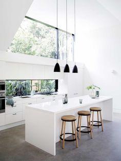 Allen Key House kitchen design with pendant lights
