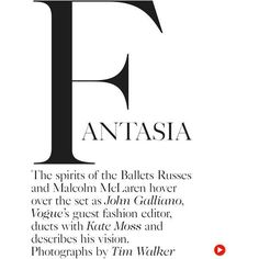 Kate Moss John Galliano for Vogue UK December 2013 ❤ liked on Polyvore featuring text, words, phrase, quotes and saying