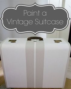 Painting a Vintage Suitcase with Stripes!
