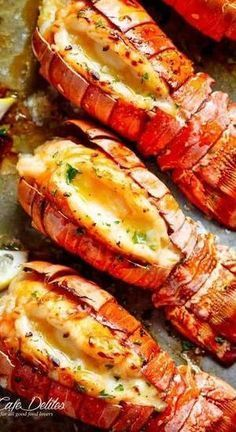 Broiled Lobster Tails with Honey Garlic Butter White Wine Sauce is a fancy, clas. dinner for 4 Broiled Lobster Tails with Honey Garlic Butter White Wine Sauce is a fancy, clas. Salmon Recipes, Fish Recipes, Seafood Recipes, Cooking Recipes, Healthy Recipes, Cajun Seafood Boil, Cajun Shrimp Recipes, Indian Recipes, Cooking Blogs