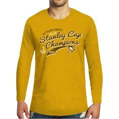 Majestic Threads Men's 2016 NHL Stanley Cup Champions Pittsburgh Penguins Tri-Blend Long Sleeve T-Shirt   DICK'S Sporting Goods