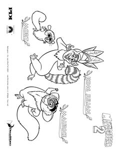 Madagascar-Coloring Pages