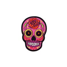 Skull Patch Pink Sugar Skull patch Embroidered Iron on Iron On Denim Patches d6c30b02bfe3