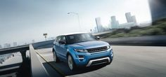 2012 Range Rover Evoque in Mauritius Blue with Fuji White contrast roof. #LandRover #RangeRoverEvoque