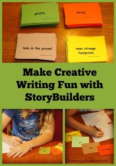 This post is from contributor, Megan Zechman. If you are looking to add more creative writing to your lesson plans this year, StoryBuilders, by WriteShop, is a quick and frugal way to accomplish this goal. Writing Lessons, Writing Resources, Teaching Writing, Writing Skills, Writing Activities, Writing Process, Writing Poetry, Writing Quotes, Writing Services